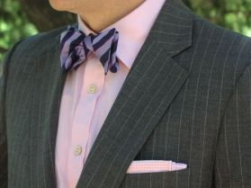 pinstripe-bow-tie