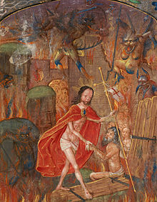 220px-harrowing_of_hell_christ_leads_adam_by_the_hand-_on_scroll_in_border2c_the_motto_27entre_tenir_dieu_le_viuelle27_28f-_12529_cropped